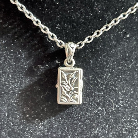 """Sterling Silver """"Wish"""" Locket with Chain"""